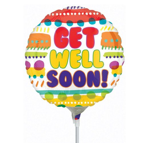 Get Well Soon Foil Mini Shape Flat